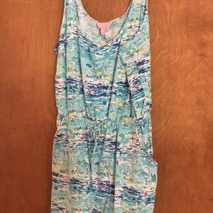 Lilly Pulitzer High Tide Toile Dress